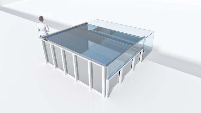 H2OStyle stainless steel swimming pools for Residence Lugana Bay, Verona