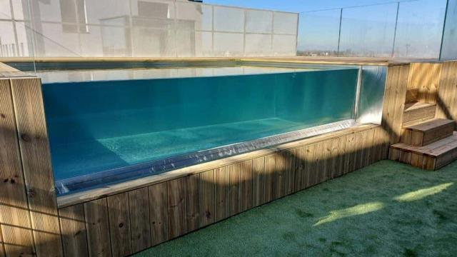 H2Ostyle swimming pool in stainless steel